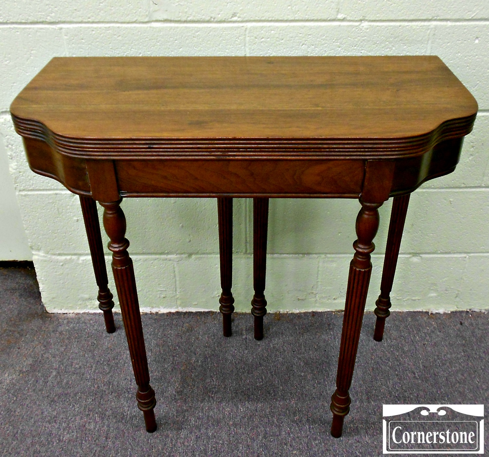 5073-1041 DH Fritts Solid Walnut Sheraton Game Table 1