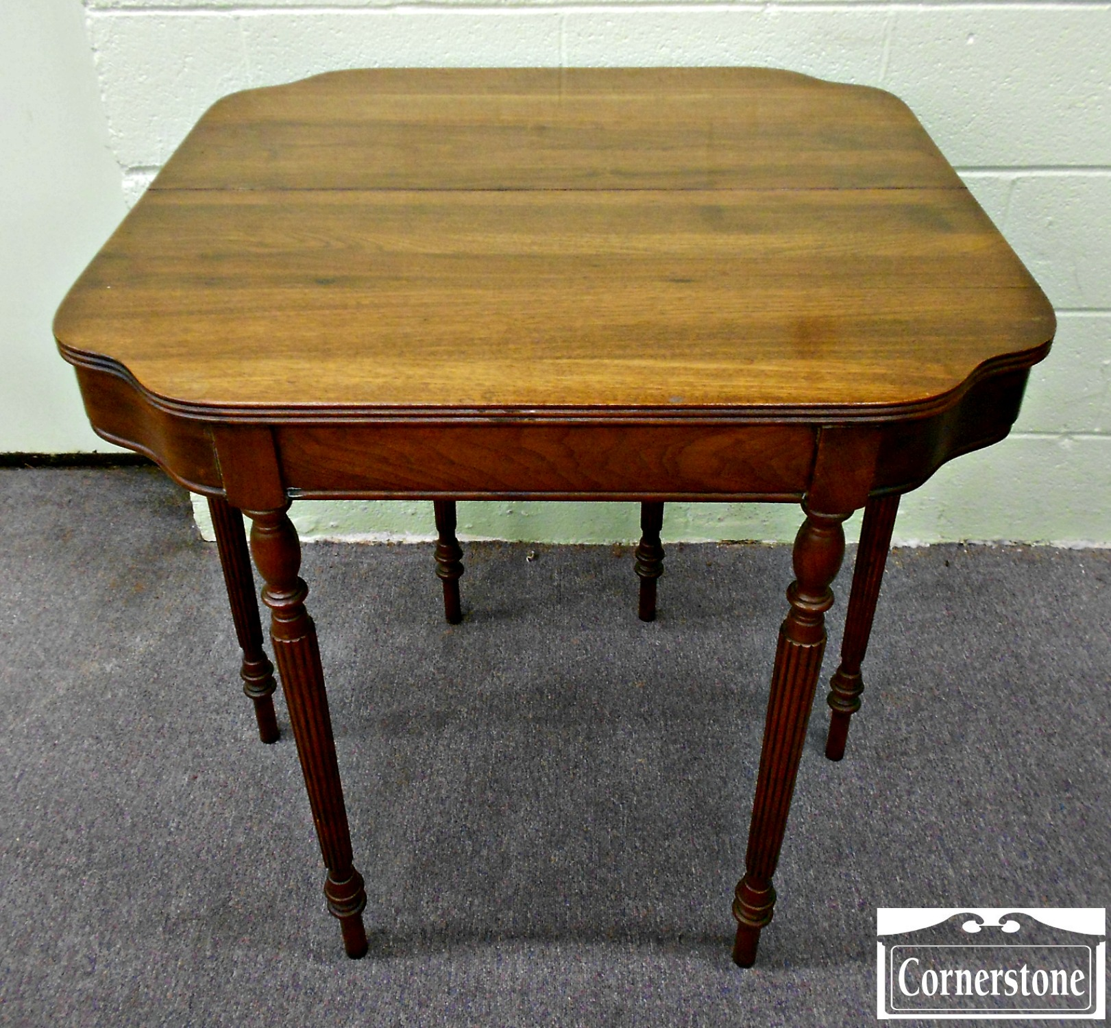 DH Fritts Solid Walnut Sheraton Game Table 2