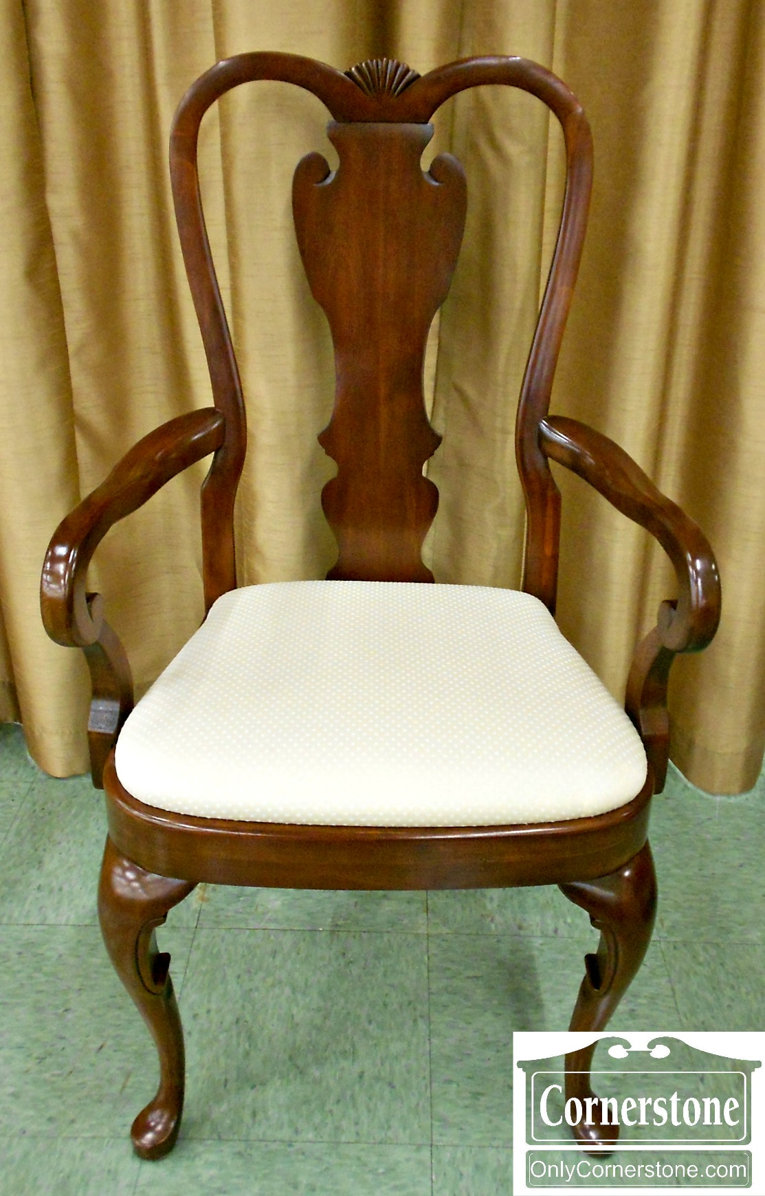 5208-1023 Set of 6 PA House Queen Anne Dining Chairs