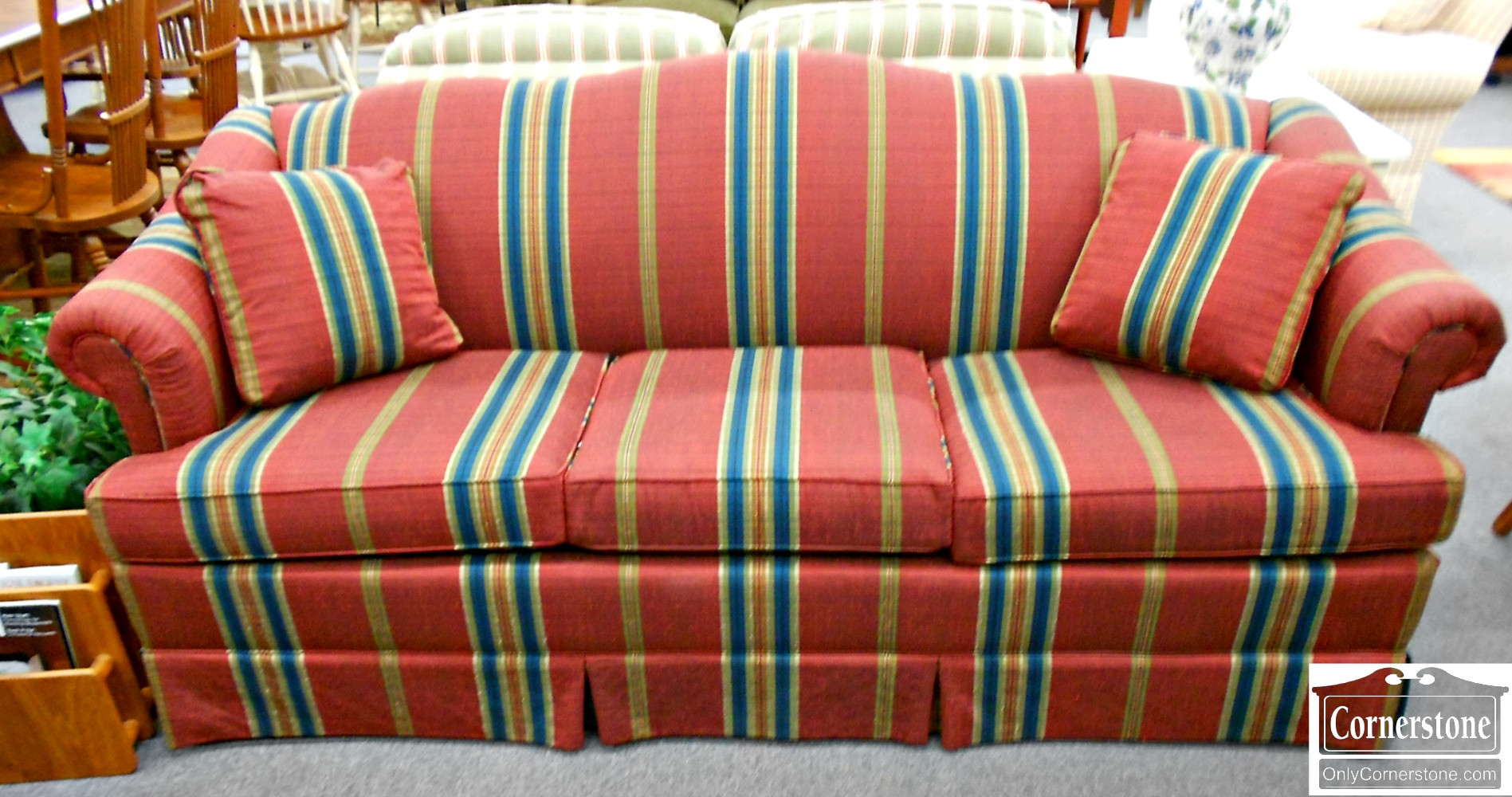 5208-576 Clayton Marcus Red Striped Sofa