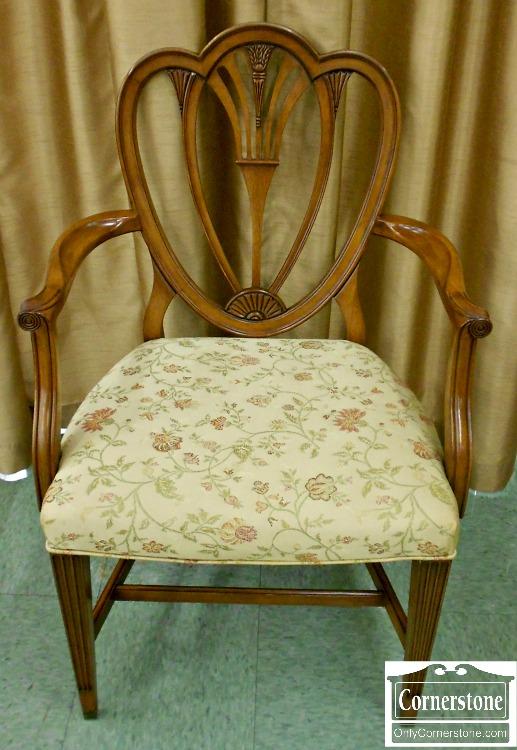 5208-777 Set of 6 Mahogany Heartbreak Dining Chairs