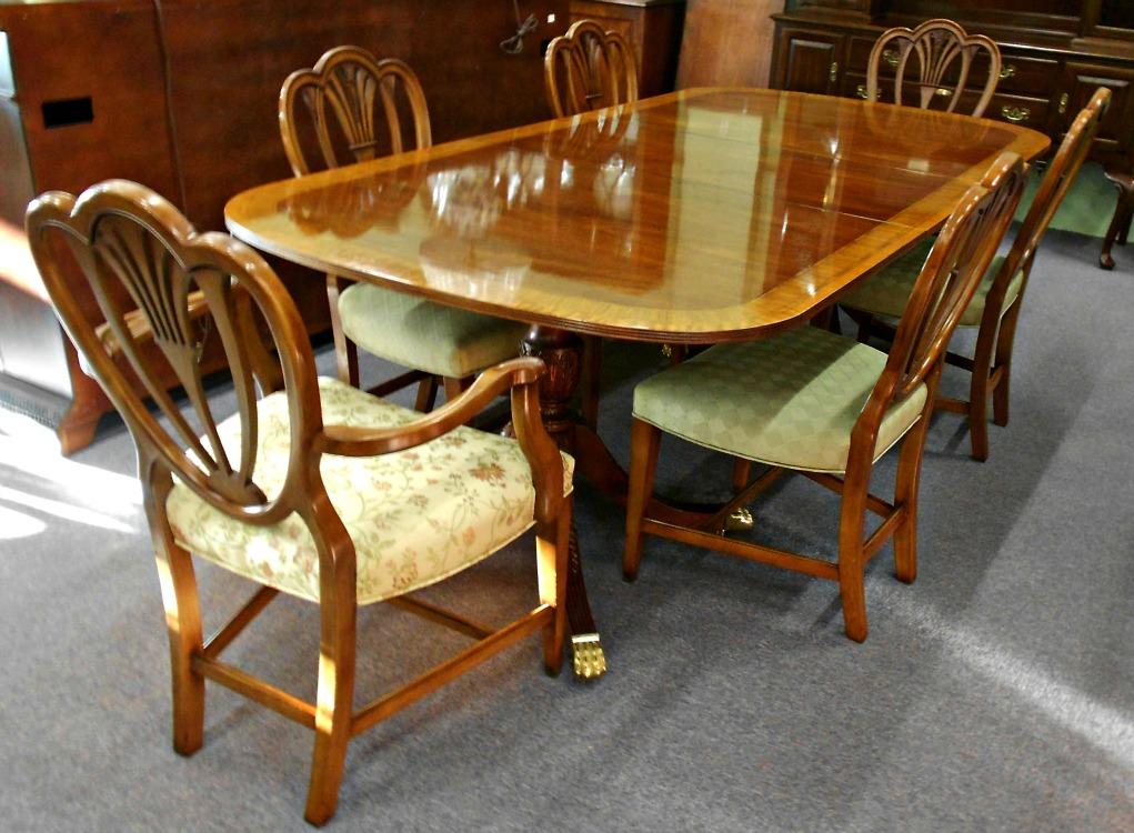 5208-777 Z Set of 6 Mahogany Heartback Dining Chairs