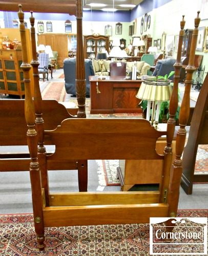 5208-780 Stickley Solid Cherry Twin Poster Bed