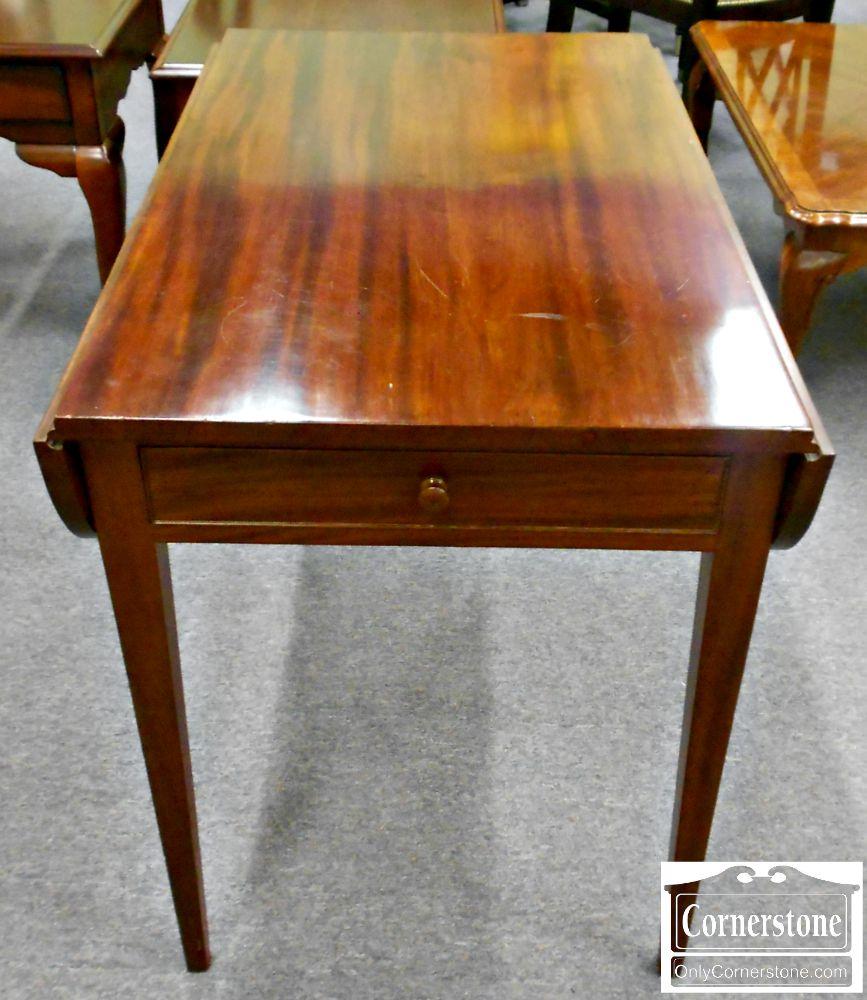 5208-790 Antique Solid Mahogany Drop Leaf Table