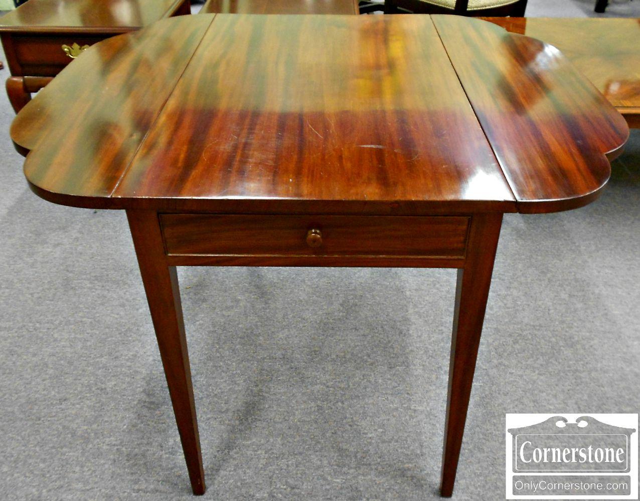 5208-790 Z Antique Solid Mahogany Drop Leaf Table