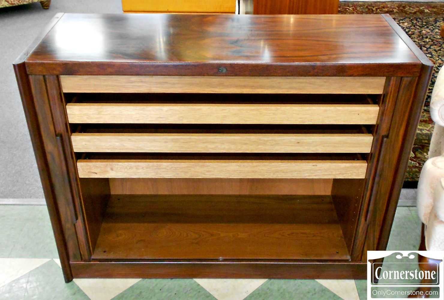 5208-819 Z Dyrlund Rosewood Cabinet with Interior Drawers