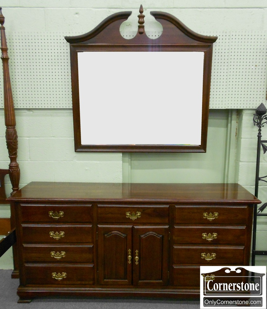 5208-848 Cherry Dresser with Mirror