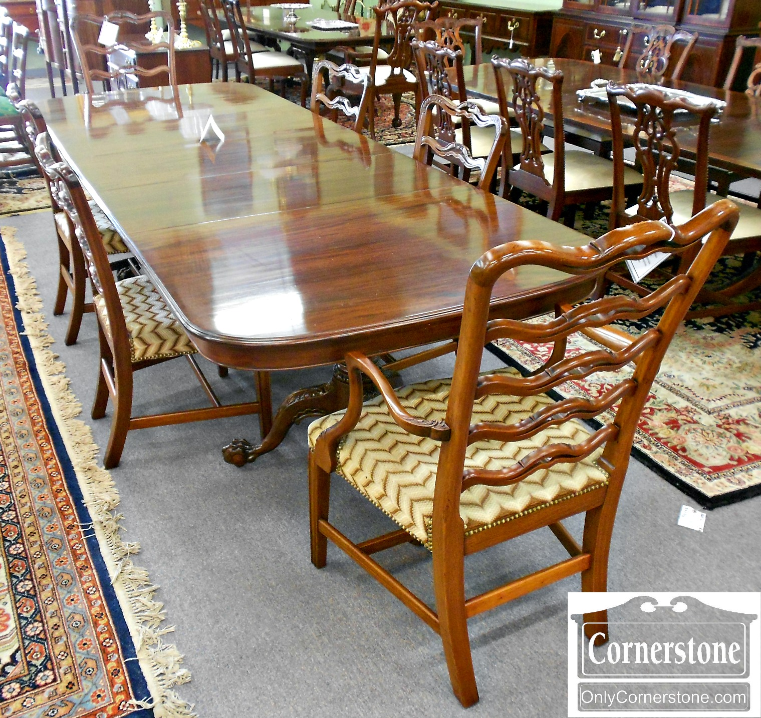 5208-923 Set of 6 Potthast Solid Mahogany Metropolitan Ribbon-back Chairs-1