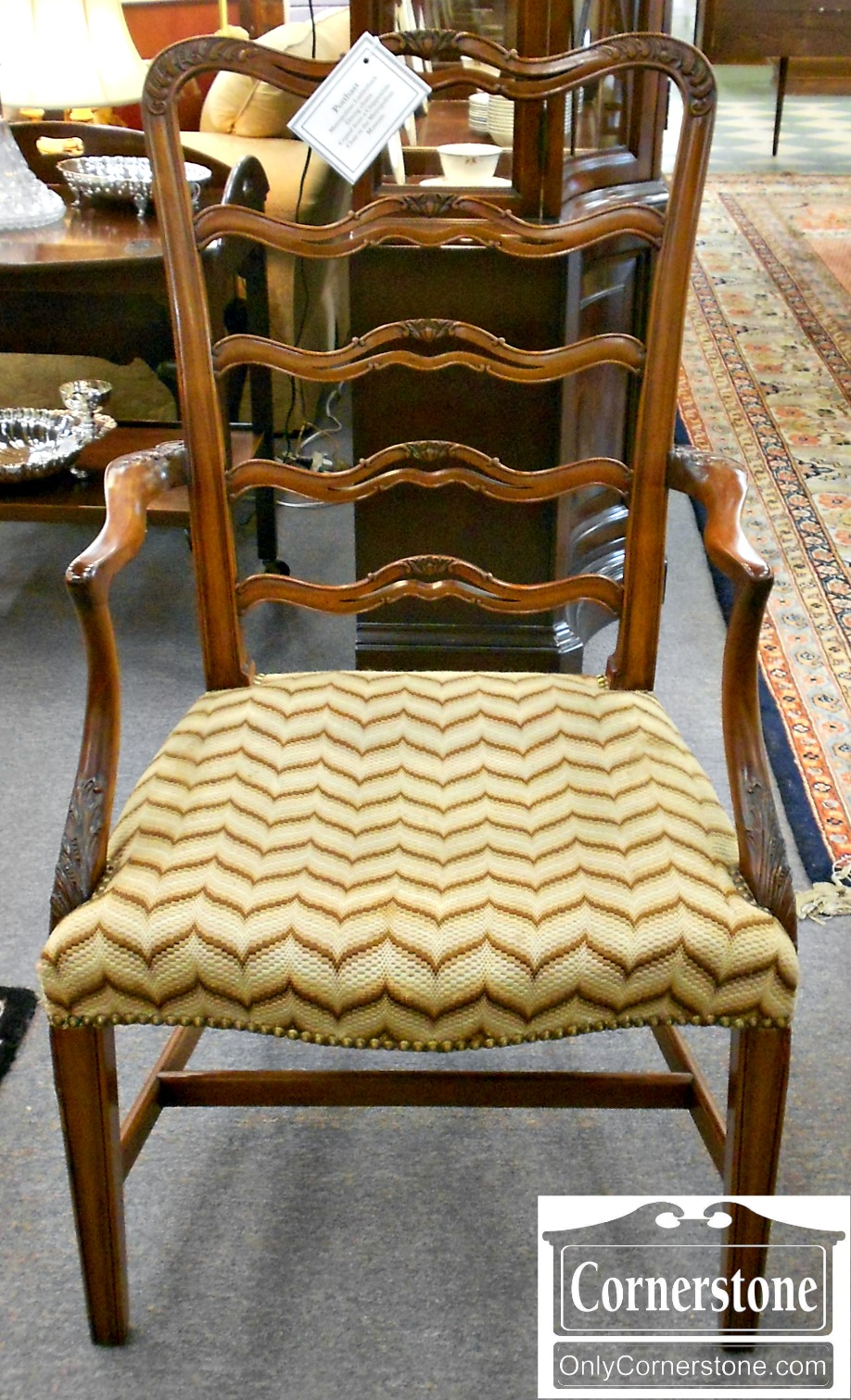 5208-923 Set of 6 Potthast Solid Mahogany Metropolitan Ribbon-back Chairs-2
