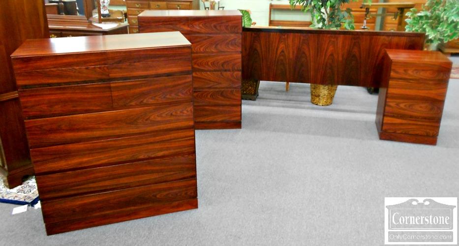 5208-977 Danish Modern 4 Piece King Bedroom Set