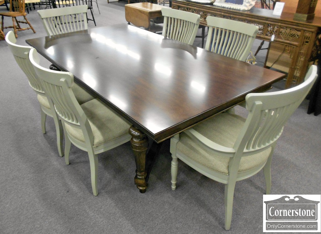 5208-993 Z Set of 6 Gray Painted Dining Chairs