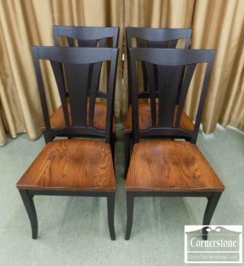 5405-3 - Zimmerman Oak Casual Side Chairs - BlackOak Two Tone - Set of 4