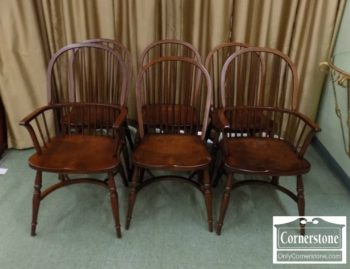 5476-117 - Set of 6 Zimmerman Chair Co. Sol Cher Windsor Chairs