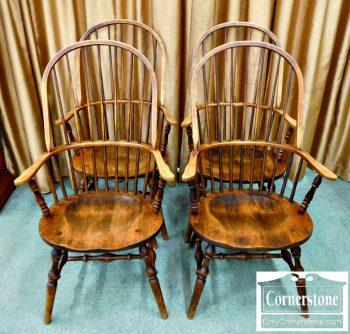 5476-67 Set of 4 Habersham Mixed Wood Windsor Chairs