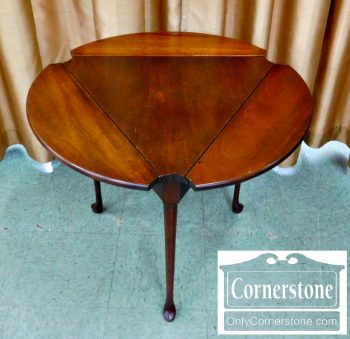 5537-3 - Tradition House Solid Mahogany Queen Anne 3-Sided Dropleaf Table