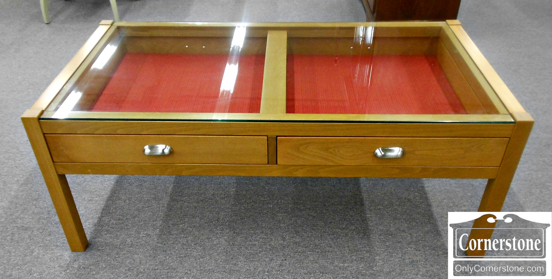 5666-453 Casual Glass Top Display Coffee Table