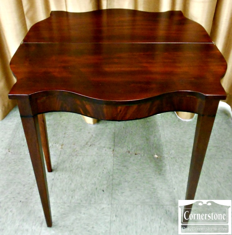 5666-470 Antique Solid Mahogany Game Table