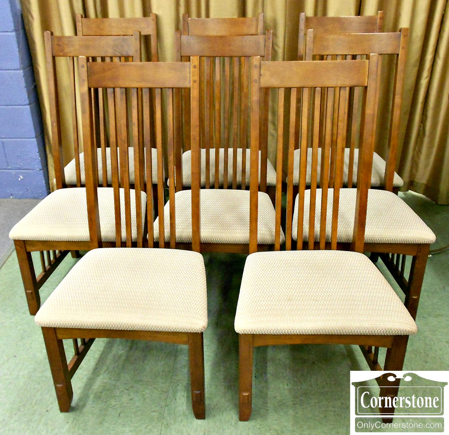 5670-533 8 Mission Style Chairs