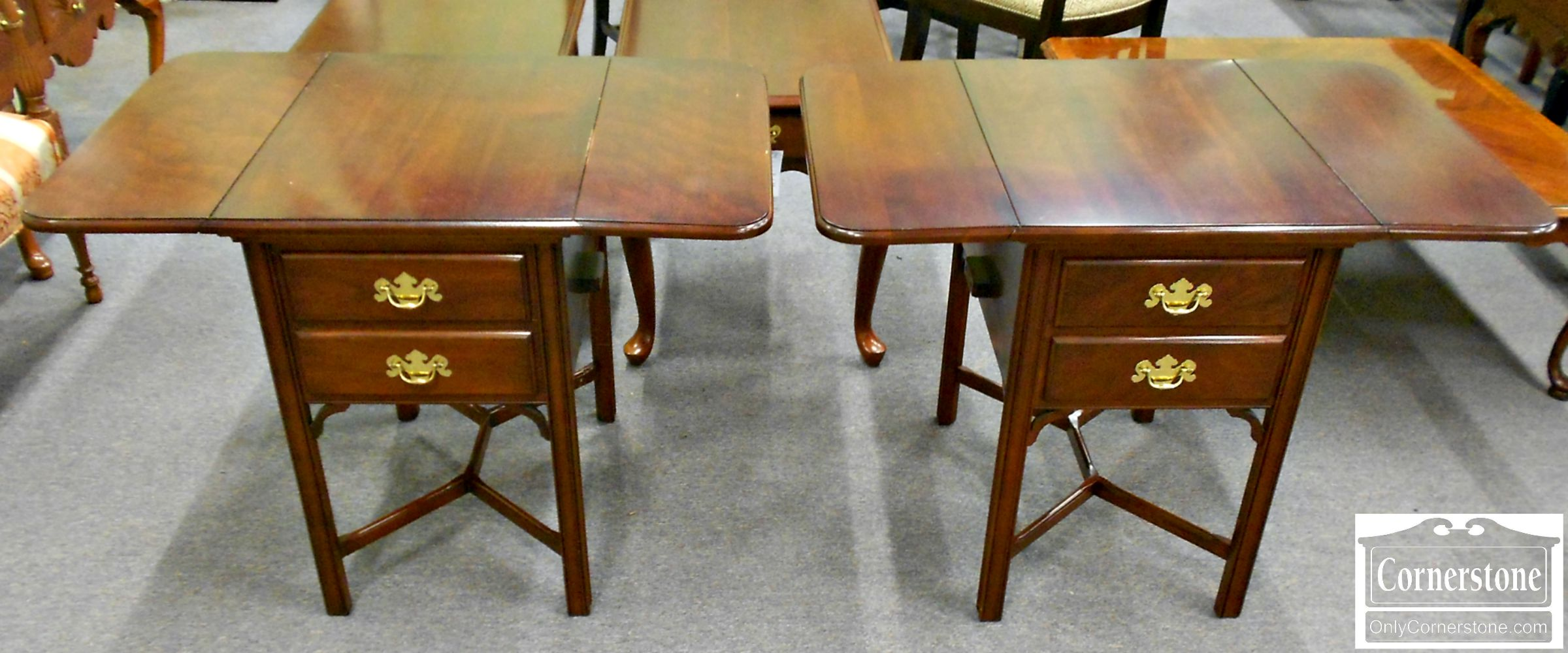 5670-546 Z Pair of Solid Cherry Drop Leaf Tables