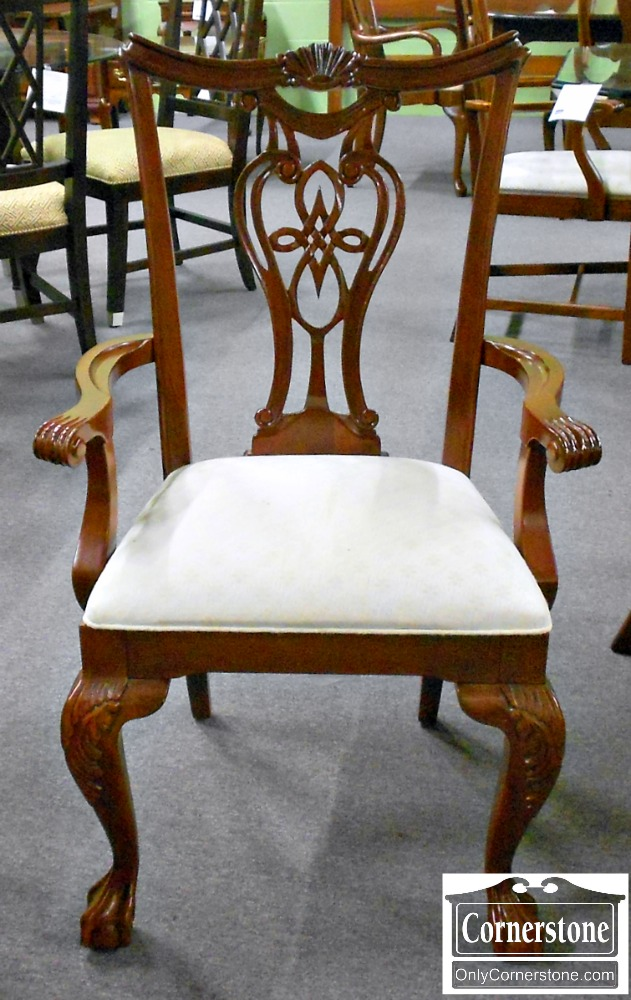 5670-633 Set of 8 PA House Solid Cherry Chippendale Ball & Claw Foot Dining Chairs