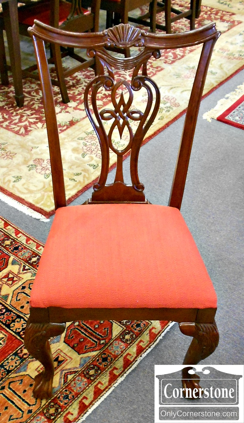 5670-633 Set of 8 Pennsylvania House Cherry Chippendale Chairs-2