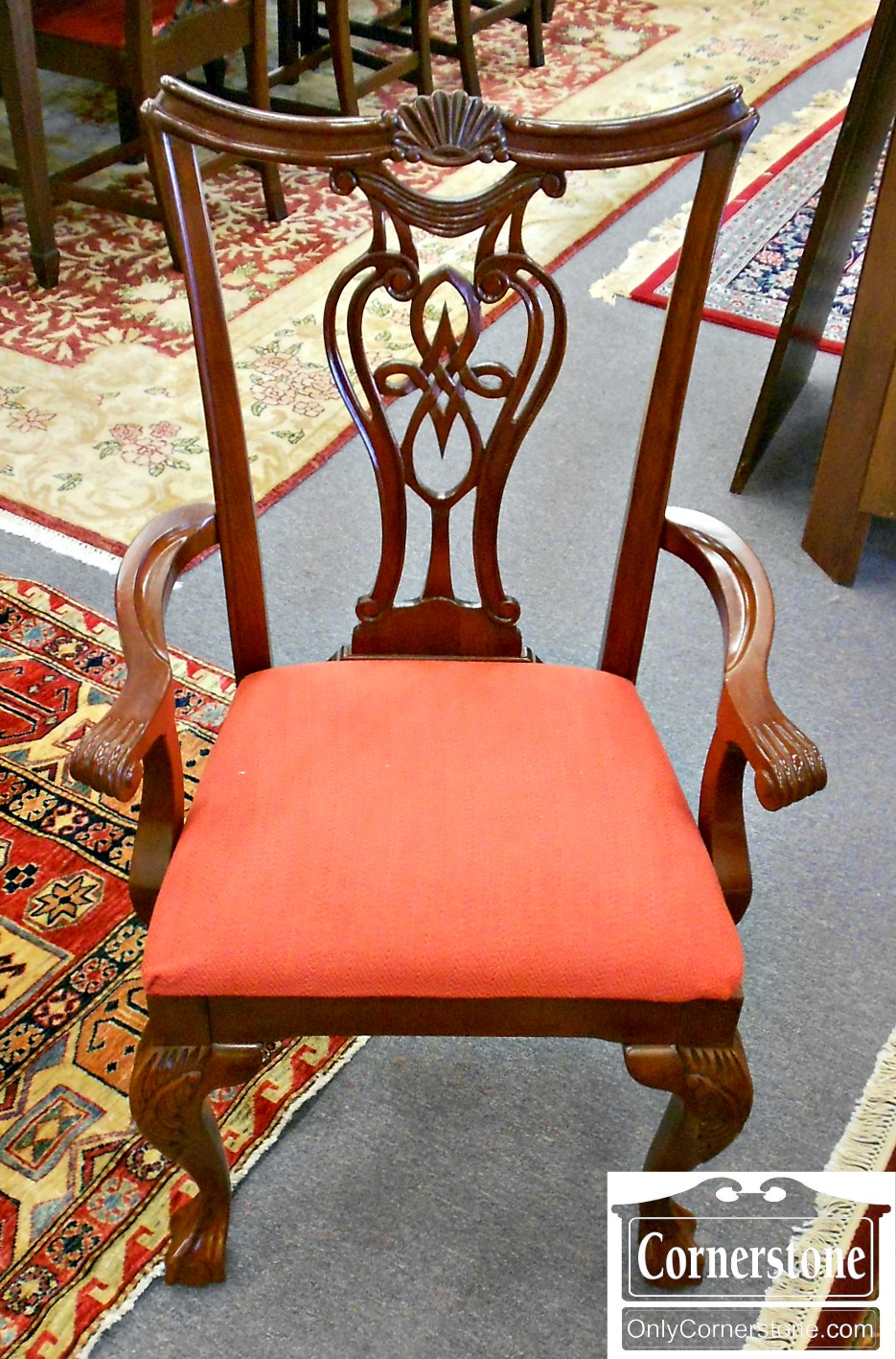 5670-633 Set of 8 Pennsylvania House Cherry Chippendale Chairs