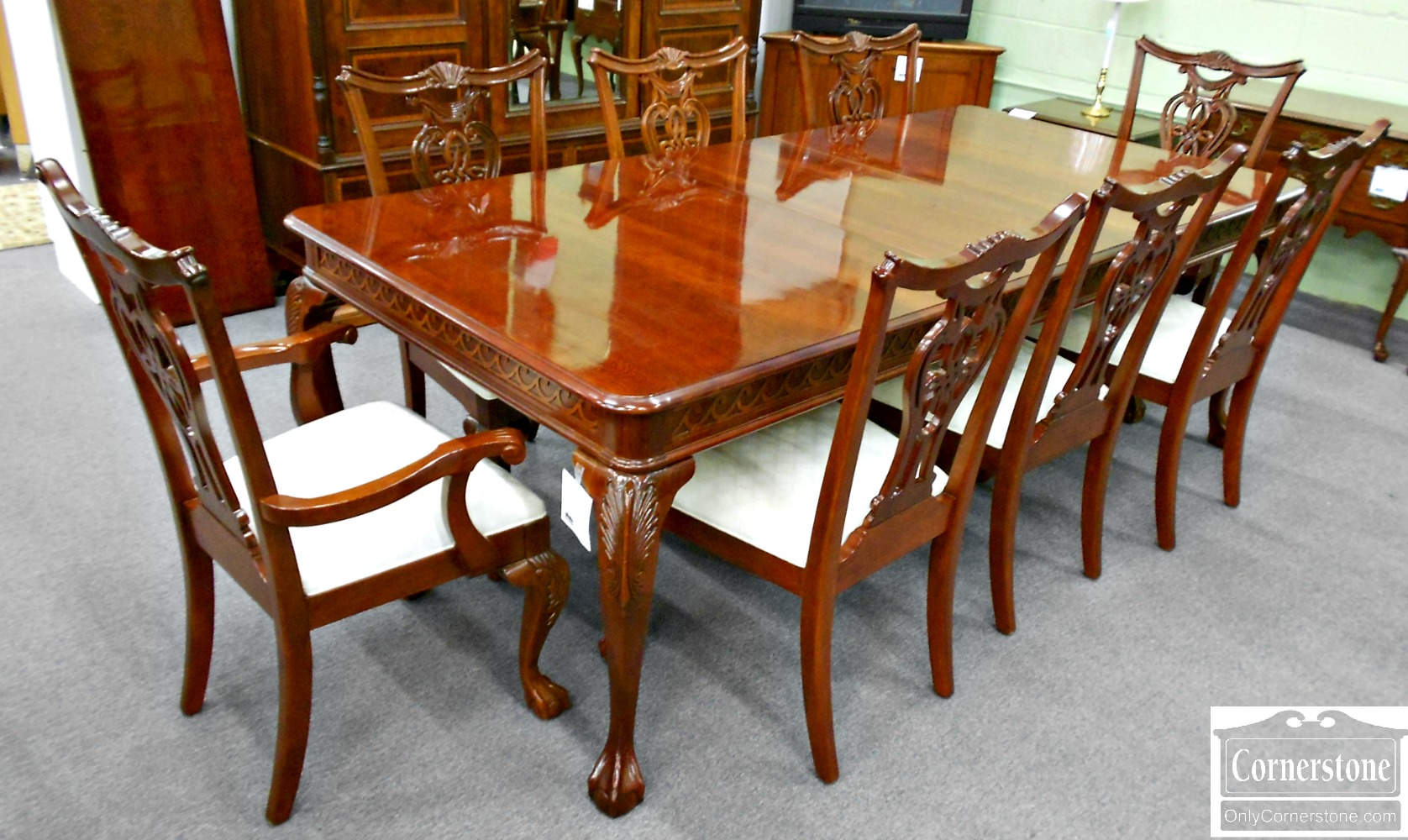 5670-633 Z Set of 8 PA House Solid Cherry Chippendale Ball & Claw Foot Dining Chairs
