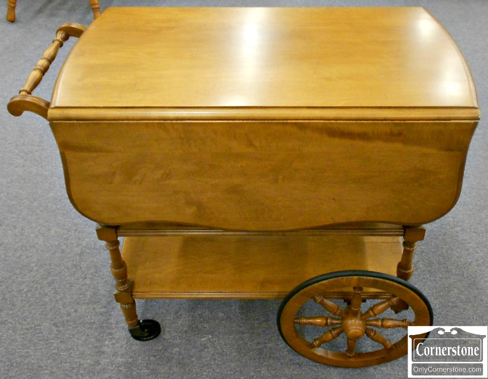 5670-688 PA House Solid Maple Tea Cart