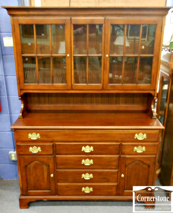 5670-707 Henkel Harris Solid Cherry China Cabinet Hutch