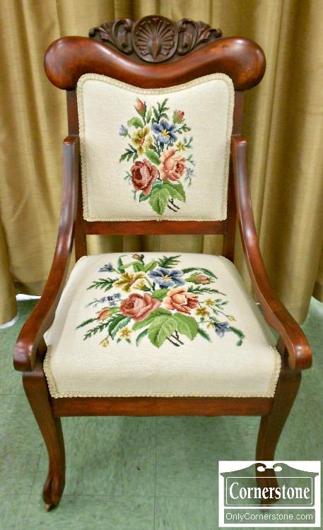 5670-755 Victorian Needlepoint Chair