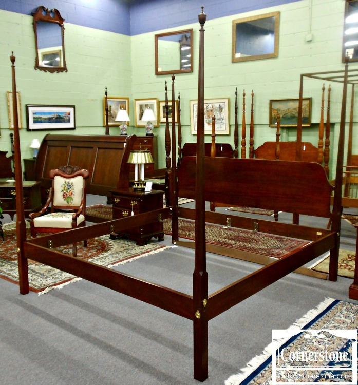 5670-756 Councill Craftsmen Solid Mahogany King Pencil Post Bed