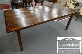 5690-6 - Rustic Farm Table with Bread Board Ends