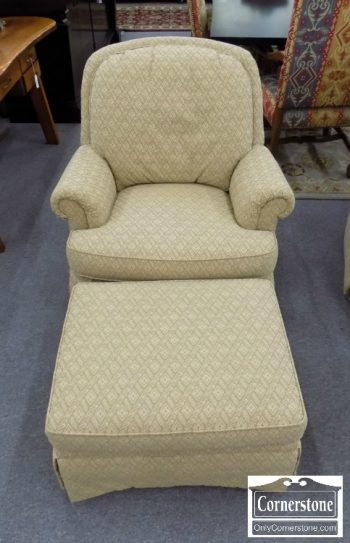 5690-8 - Disque Gold Swivel Rocker with Ottoman