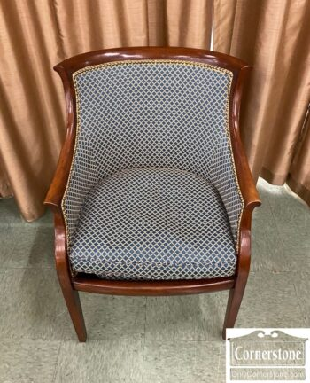 5811-24-Upholstered Chair in Mahogany Frame