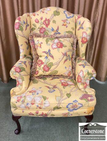 5811-28 - Sherrill QA Floral Wing Chair