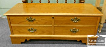 5861-13 Lane Oak Cedar Lined Blanket Chest