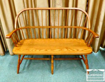 5861-25 - Oak Windsor Bench