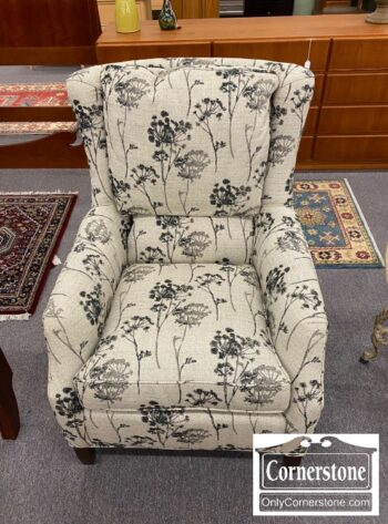 5861-56 - Black White Upholstered Occasional Chair