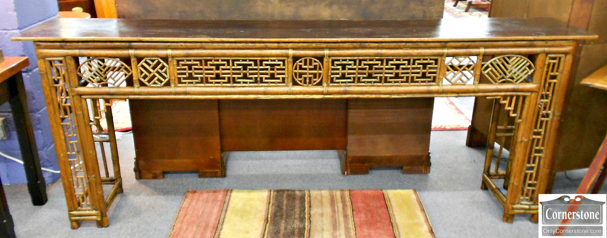 5895-1 Oriental Bamboo Sofa Table