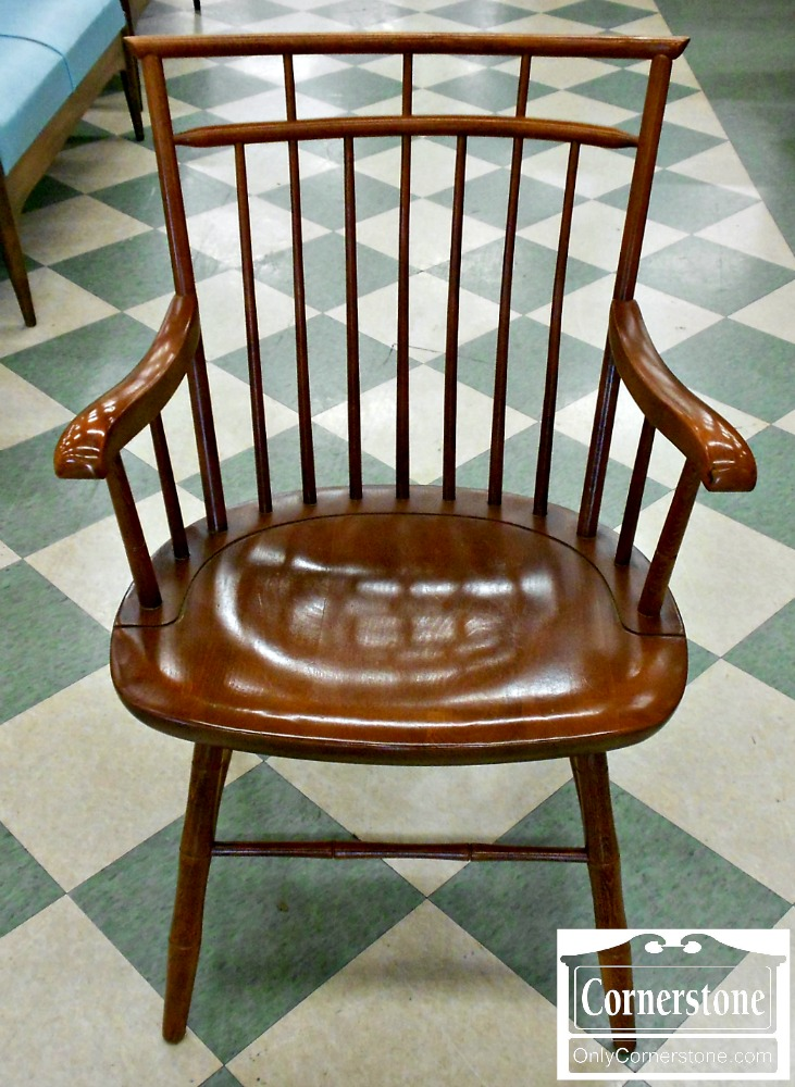 5913-1 Mixed Wood Bamboo Windsor Arm Chair