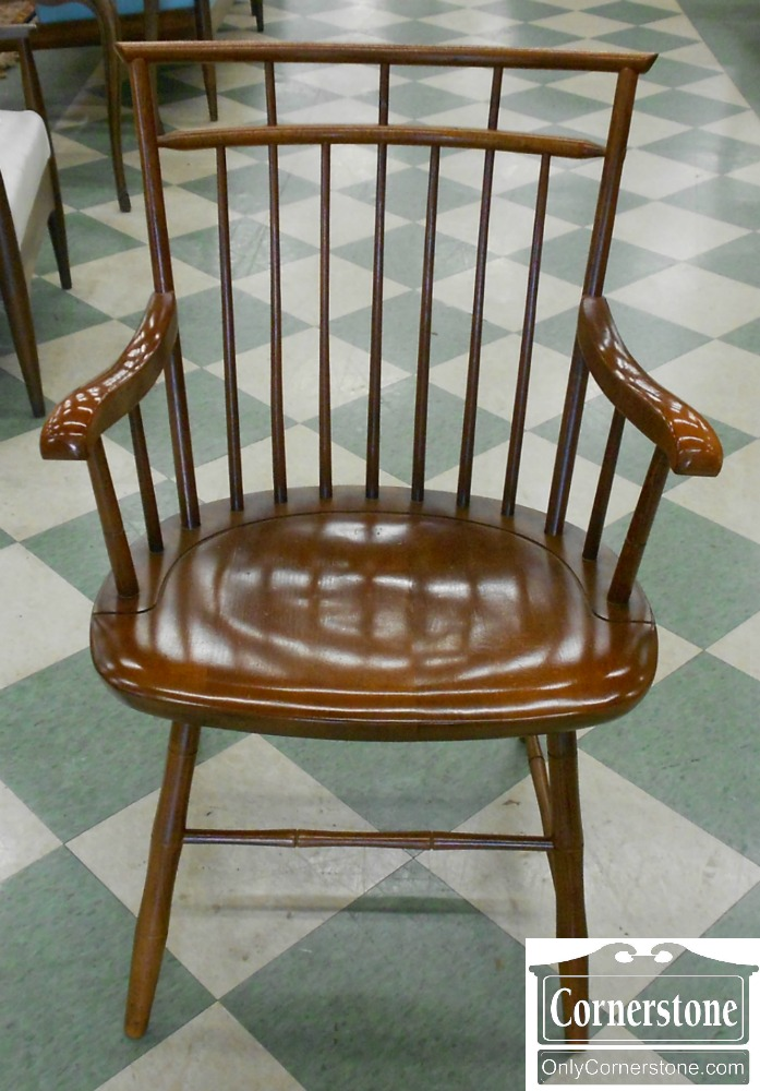 5913-2 Mixed Wood Bamboo Windsor Arm Chair