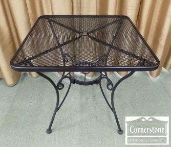 5938-44 - Black Metal Patio Table