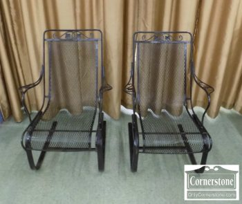 5938-55 - Pair of Wrought Iron Spring Chairs