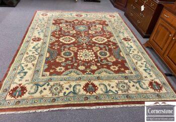 5954-12 - Hand Knotted Wool Serape Rug