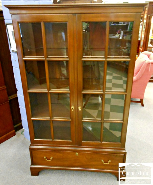 5960-160 Kittinger Colonial Williamsburg Mahogany Bookcase with Drawer CW164