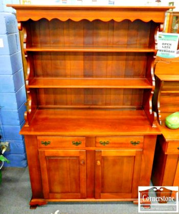 5960-180 Solid Cherry Hutch