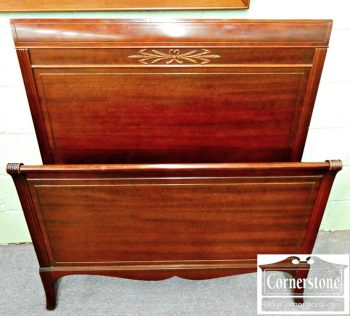 5960-233 Mahogany Twin Sleigh Bed