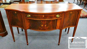 5960-261 Potthast Solid Mahogany Inlaid Sideboard