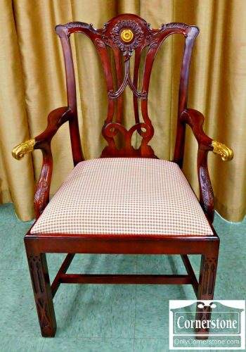 5960-265 12 N Maitland Smith Chippendale Dining Chairs