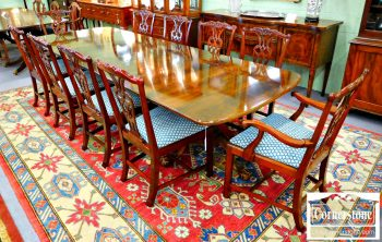 5960-279 Set of 10 Baker Solid Mahogany Chippendale Chairs-2